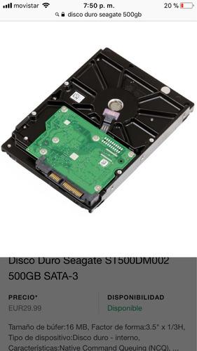 disco duro sata seagate 500gb servidor hp proliant ml10, 110