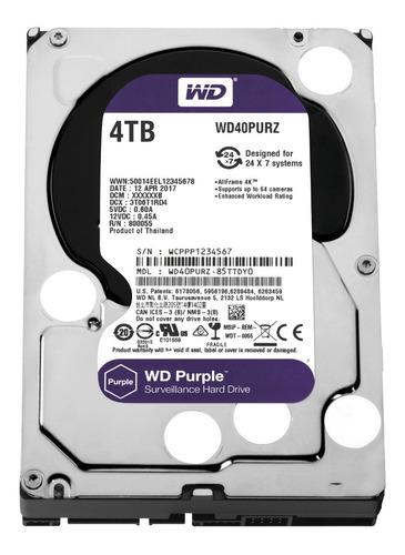 disco duro sata wd purple 4tb de 3.5'' para nvr seguridad