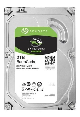 disco duro seagate barracuda 2tb 7200rpm3,5 pulgadas interno