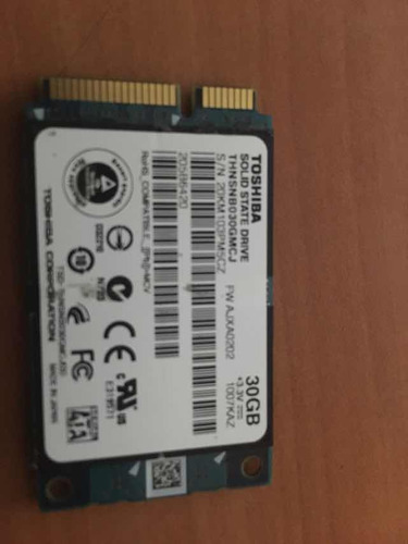 disco duro solido 30gb ssd mini sata toshiba