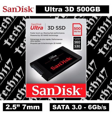disco duro solido sandisk  500 gb  3d ssd  nuevo