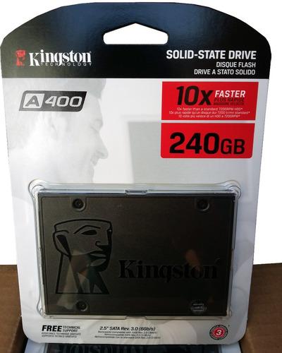 disco duro solido ssd 240gb kingston a400  - 6gb/s