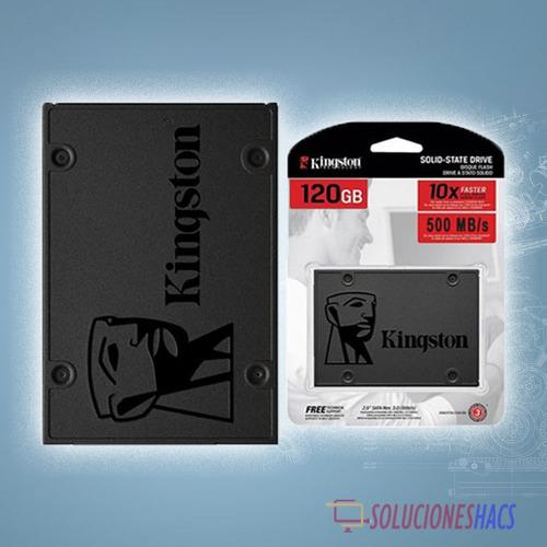 disco duro solido ssd a400 120gb kingston , sata 6gb/s