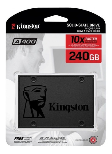 disco duro ssd kingston 240gb a400 sa400s37/240g