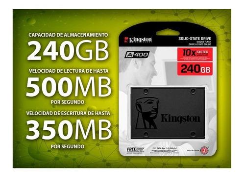 disco duro ssd kingston 240gb solido + cables sata