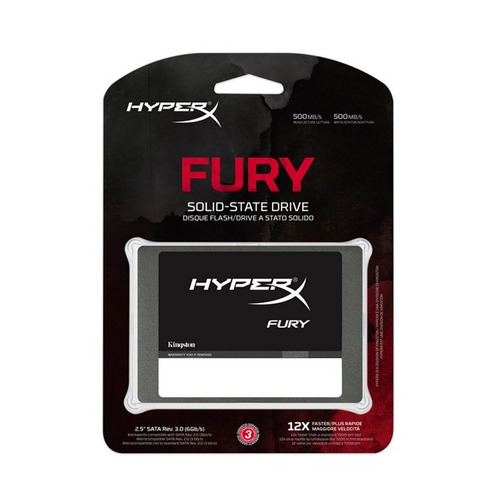 disco duro ssd kingston hyperx fury 480gb shfs37a/480g