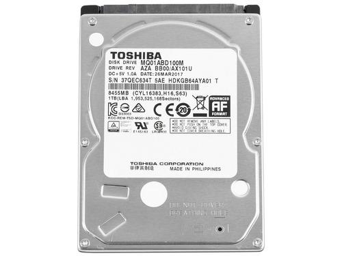 disco duro toshiba 1tb 5400 rpm notebook sata (mq01abd100)
