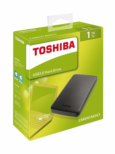 disco duro toshiba canvio basics de 1tb usb 3.0