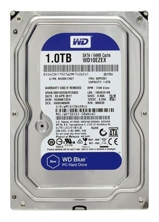 disco duro wd 1tb sata3 64mb 7200rpm blue