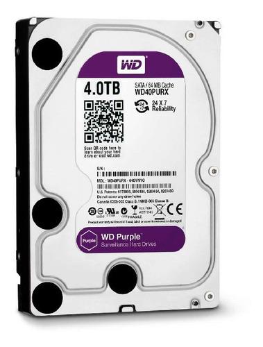 disco duro wd hdd purple 4tb surveillance 64mb intellipower