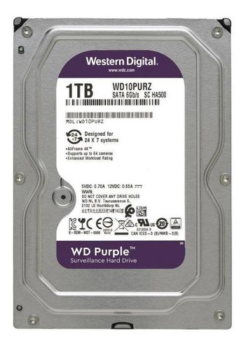 disco duro wd purple wd10purz 1tb surveillance 64mb 5400rpm