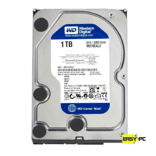 disco duro western digital 1 tb sata 64 mb cache 7200 rpm pc