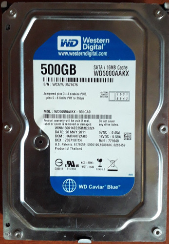 disco duro western digital de 500 gb 3.5 sata