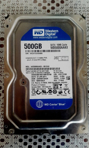 disco duro western digital nuevo 500 gb