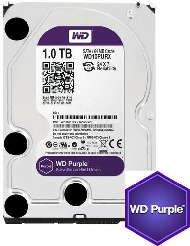 disco duro western digital purple 1tb 3.5  7200rpm