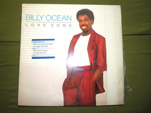 disco en vinyl importado de billy ocean - love zone (1986)