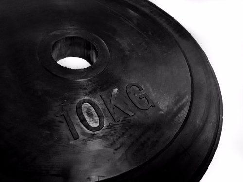 disco engomado 10 kg para barra olímpica eco rubber