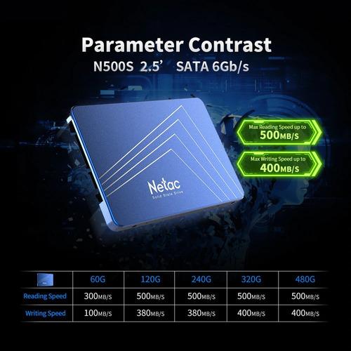 disco estado solido ssd 240gb sata 6gb/s netac n500s