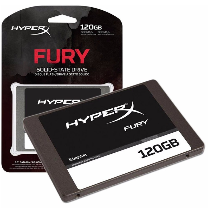 Disco Estado Solido Ssd Kingston 120gb Hyperx Fury 2.5 Sata3