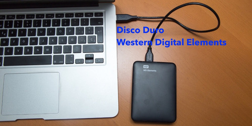 disco ext. 1tb wd elements negro win10/8.1 mac os+cable usb!