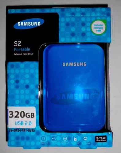 disco externo 320gb samsung original garantia 2 años env g