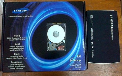 disco externo 320gb samsung original garantia 2 años env grt