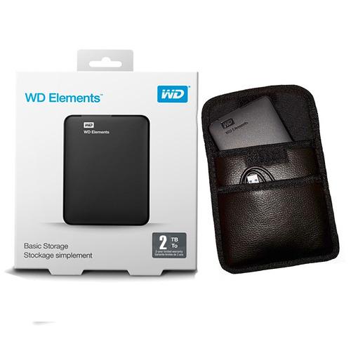 disco externo hd usb 3.0 western digital 2tb + funda cuero e