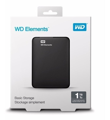 disco externo hd western digital 1tb usb 3.0 + funda cuero e