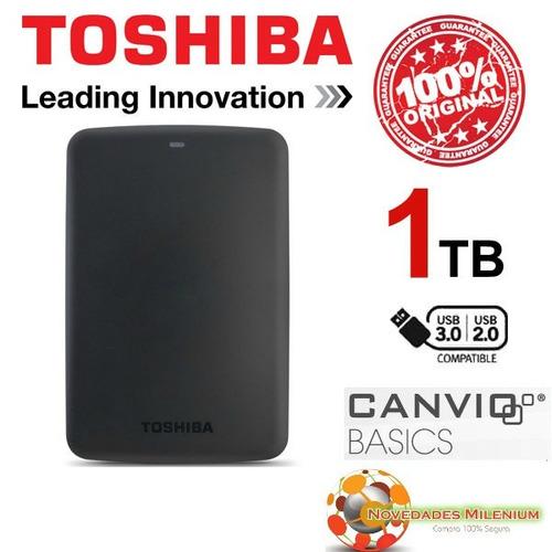 disco externo toshiba de 1tb 3.0 de gratis estuche!!
