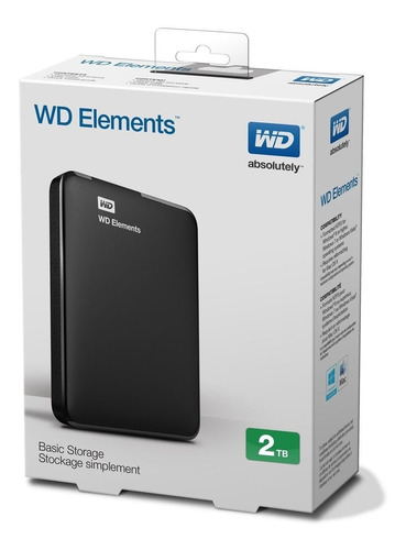 disco externo wd elements 2tb usb 3.0 pc mac ps4 xbox