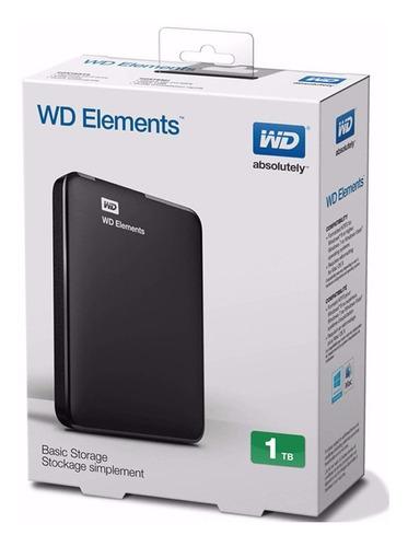 disco externo western digital 1tb elements wd usb 3.0 ps4