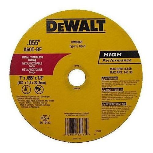 disco fino de corte 7 dewalt (ref. dw8065::z)