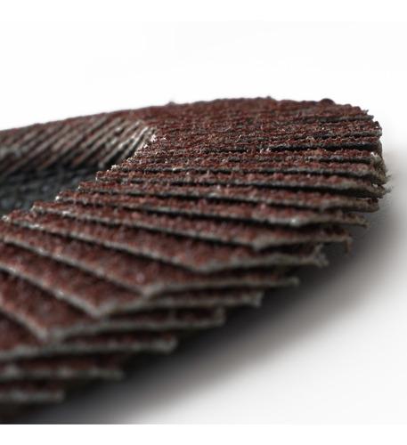 disco flap 115 mm oxido de aluminio metal madera varios gran
