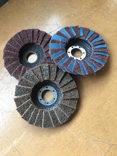 disco flap fibra 3d 115 x 22 acabados en inoxidable
