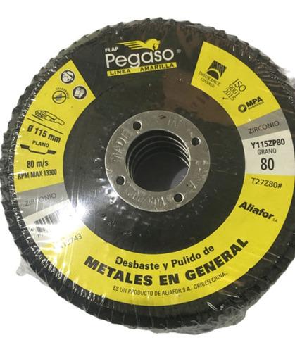 disco flap pegaso 115 mm grano 80 zircornio metales plano