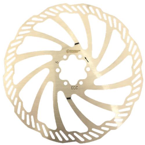 disco freio bike rotor tsw 203mm 6 parafusos inox bicicleta
