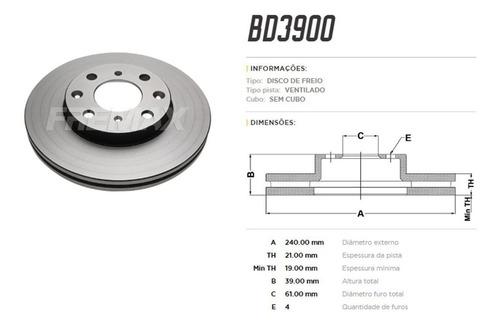 disco freio dianteiro honda fit 2004 até 2008 fremax bd3900