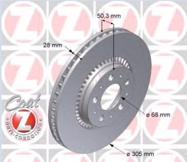 disco freio dianteiro volvo v70 t5 2004-2007 original
