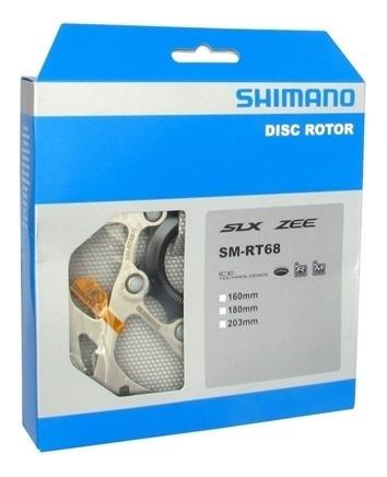 disco freio rotor shimano slx rt68 160mm ice tech center loc