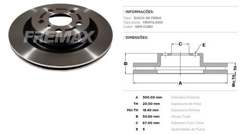 disco freio traseiro bmw x1 f48 20i 25i x2 225i após 2015