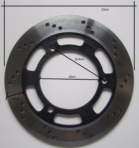 disco freio traseiro kawasaki ninja 300r 2013 a 2015 md4163