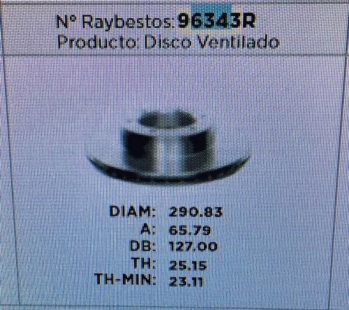 disco freno delantero 4runner 92/95 hilux usa  93/98   96343