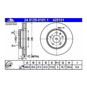Disco Frenos Ate Delantero Gm Captiva 08-15 2.4 L 3.0 L 3.6