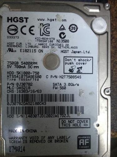 disco hgst 750 gb no funcioma bien