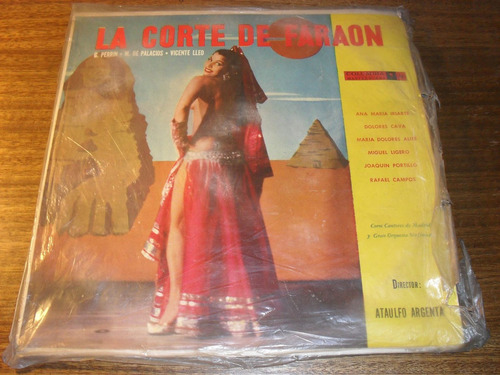 disco la corte de faraon (zarzuela antigua) usado