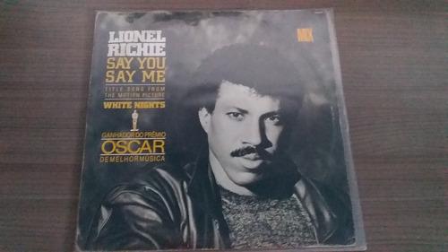 disco lionel richie lp single mix say you say me