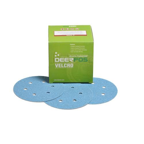 disco lixa c/furo  6 pol/150 mm gr.600 deerfos kit c/ 50 uni