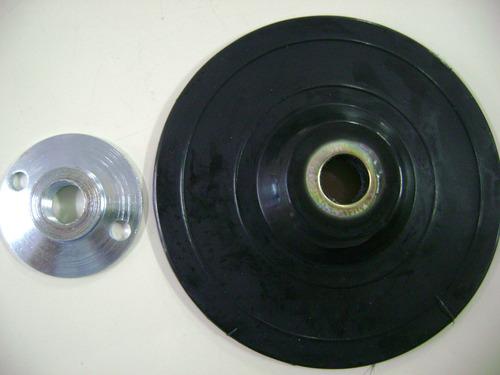 disco lixadeira com porca 4.1/2 polegadas milkits