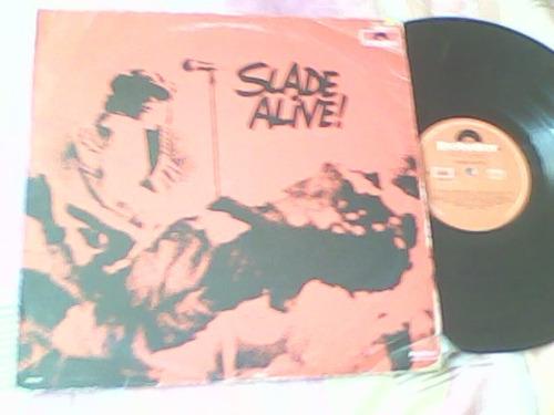 disco lp de acetato slade, alive