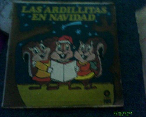 disco l.p de las ardillas en navidad